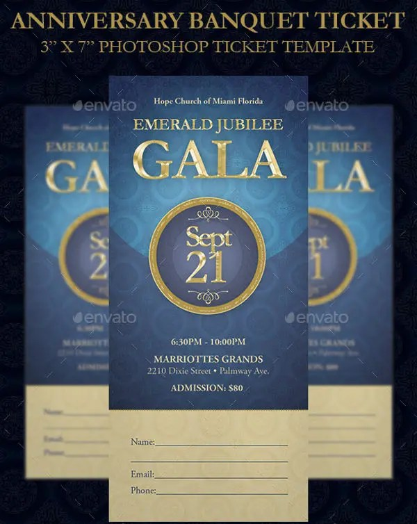 8+ Banquet Ticket Templates - Free PSD, AI , Vector EPS Download