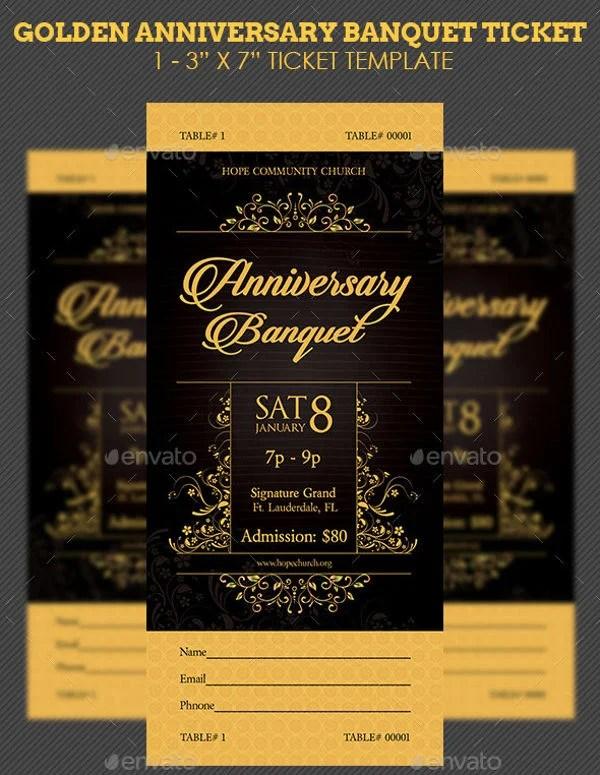 8+ Banquet Ticket Templates - Free PSD, AI , Vector EPS Download - banquet ticket template