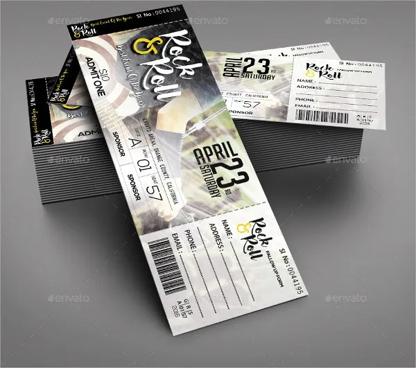 19+ Concert Ticket Templates - PSD, Vector EPS Free  Premium