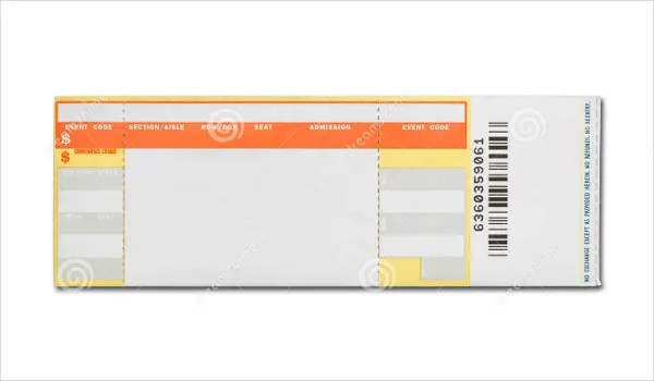 blank concert ticket template - Plate Sale Ticket Template