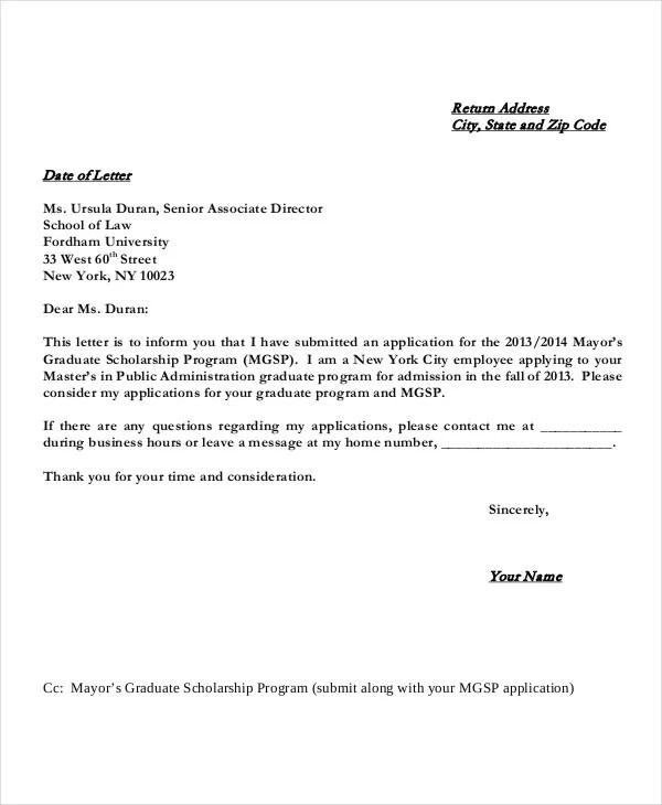 cover letter for scholarship - Romeolandinez