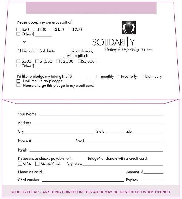 5+ Donation Envelope Templates - Free Printable Word, PSD, PDF - sample money envelope template