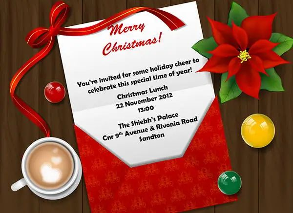 christmas brunch invitation