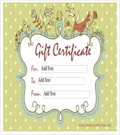 30+ Certificate Template Free \ Premium Templates   Homemade Gift Vouchers  Templates