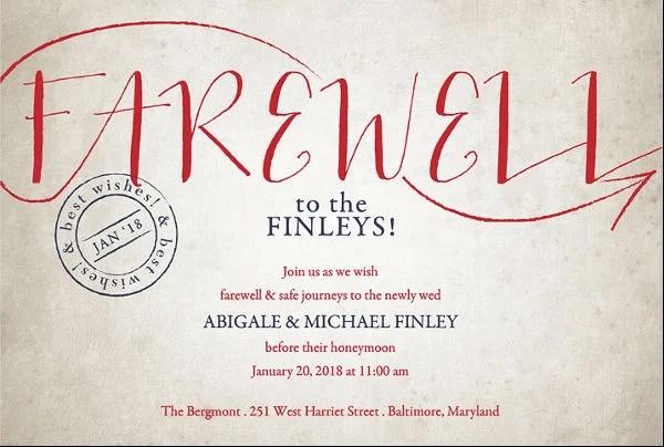 13+ Farewell Lunch Invitation - JPG, Vector EPS, Ai Illustrator - farewell invitations templates