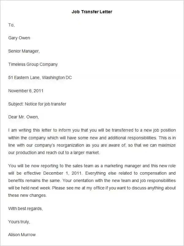 33+ Transfer Letter Templates - Free Sample, Example, Format - superior service application form