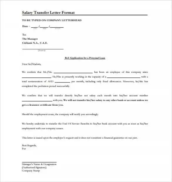 33+ Transfer Letter Templates - Free Sample, Example, Format - free letter templates