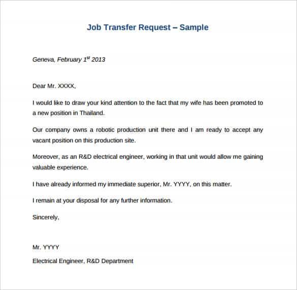 41+ Transfer Letter Templates - PDF, DOC, Excel Free  Premium