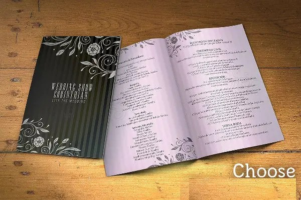 8+ Wedding Event Program Templates - PSD, Vector EPS, AI Illustrator