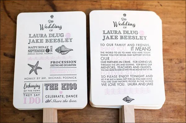 9+ Beach Wedding Program Templates - PSD, Vector EPS, AI Illustrator