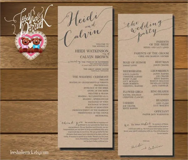 8+ Wedding Fan Program Templates - PSD, Vector EPS, AI Illustrator - wedding program inclusions
