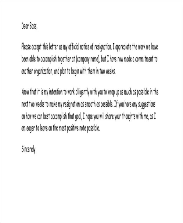 Heartfelt Resignation Letter Template - 7+ Free Word, PDF Format
