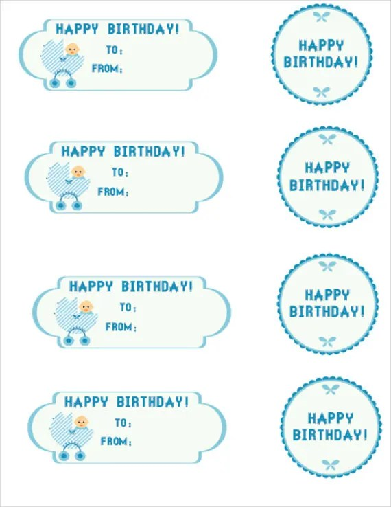 8+ Birthday Gift Tags - PSD, Vector EPS Free  Premium Templates