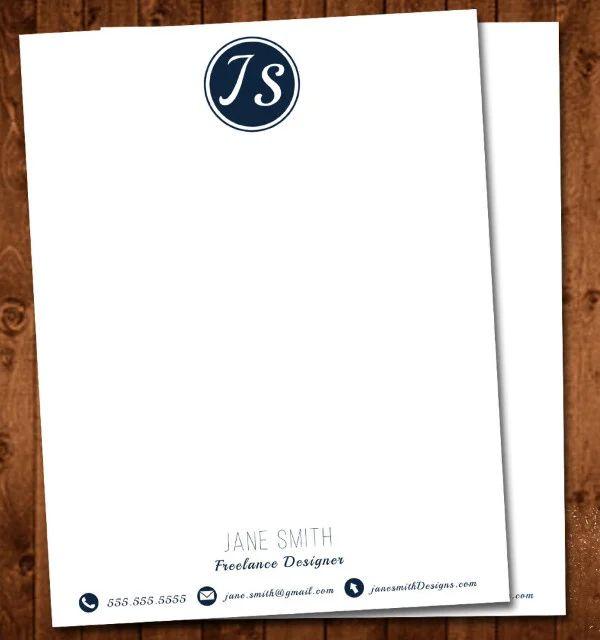 letterhead template psd