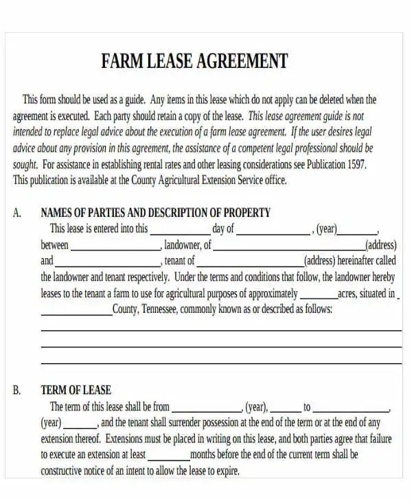 Printable Lease Agreement Free \ Premium Templates - blank lease agreement example