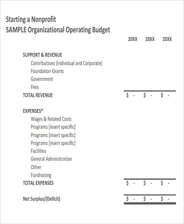 12+ Non Profit Budget Templates - Word, PDF, Excel Free  Premium