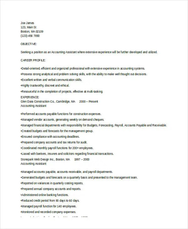 Experienced Resume Format Template - 16+ Free Word, PDF Format - Experience On Resume Examples