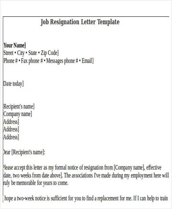 Rude Resignation Letter Template - 8+ Free Word, PDF Format Download