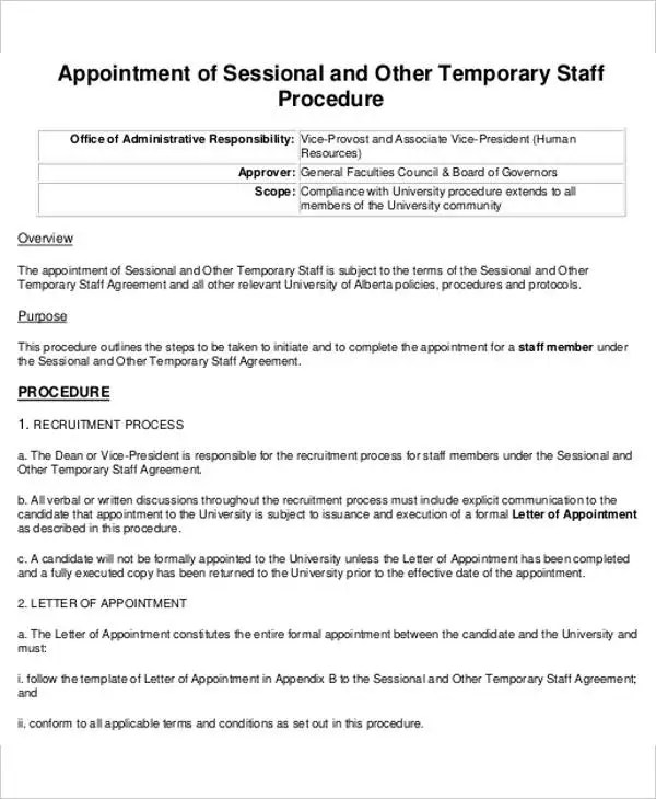 short appointment letter format - Goalgoodwinmetals
