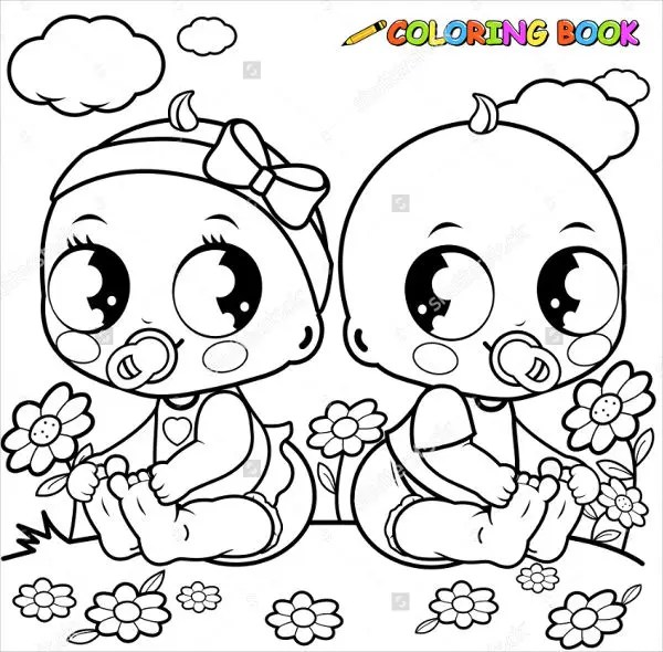 9+ Baby Girl Coloring Pages - JPG, AI Illustrator Download Free