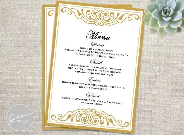 event menu template - Funfpandroid - event menu template