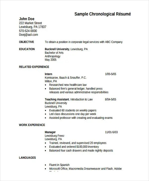 5+ HR Fresher Resume Template- 5+ Free Word, PDF Format Download