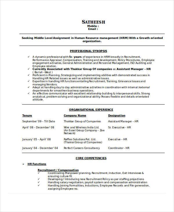 free executive resume template word