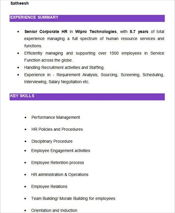 Resume In Spanish Example how to write a professional profile - spanish resume template