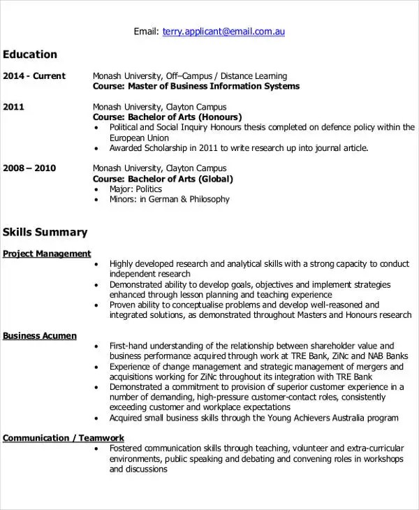 IT Resume Format Template - 7+ Free Word, PDF Format Download - example it resume