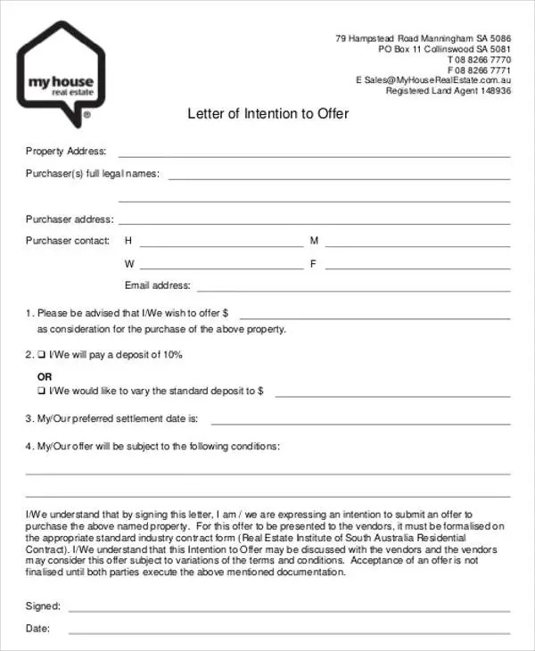 8+ Real Estate Offer Letter Template - 9+ Free Word, PDF Format - real estate offer letter