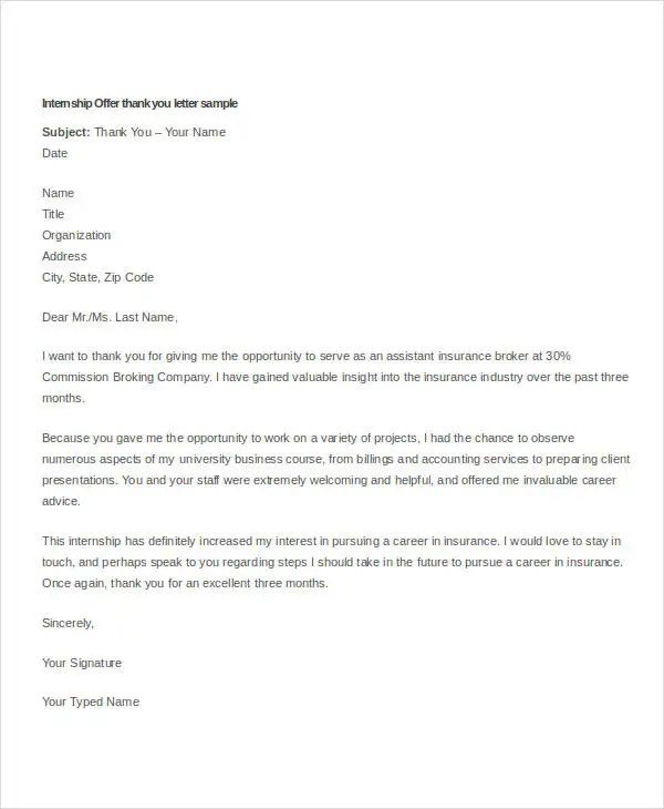 sample of internship letter from company - Gottayotti