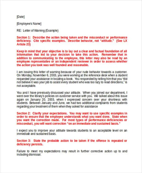 Business Warning Letter Template - 5+ Free Word, PDF Format Download