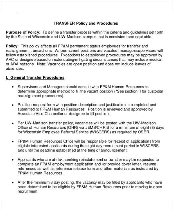 Hr Transfer Letter Template - 5+ Free Word, Pdf Format - hr form