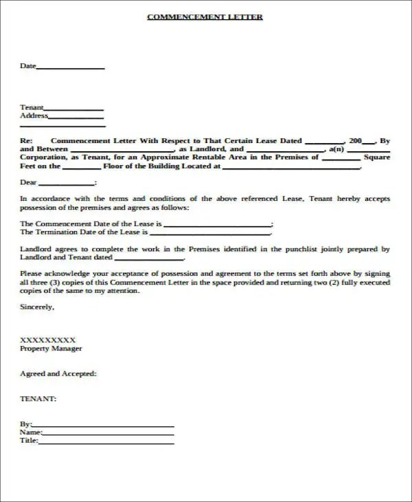 Lease Transfer Letter Template - 6+ Free Word, PDF Format Download - ten terms to include in your lease