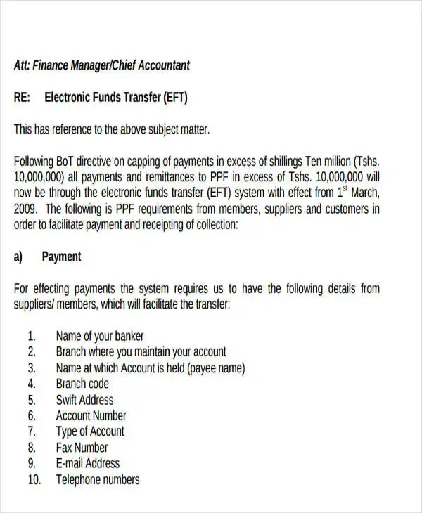 10+ Fund Transfer Letter Templates - PDF, Doc, Apple Pages, Google