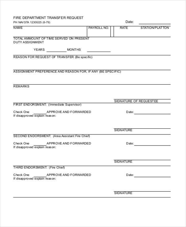 7+ Department Transfer Letter Templates - DOC, PDF Free  Premium