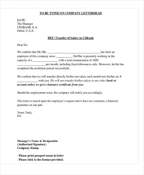 Noc Letter Format To Bank Manager.  Company Transfer Letter Template 6 Free Word PDF Format no objection letter format node2001 cvresume paasprovider com