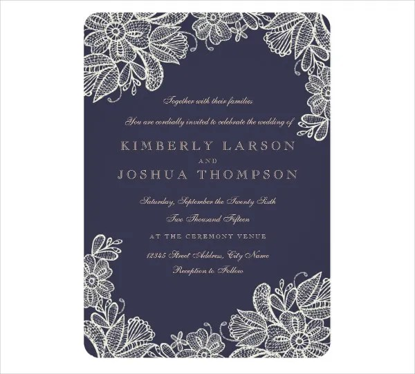 9+ Wedding Invitation Card - Designs, Templates Free  Premium - wedding card template