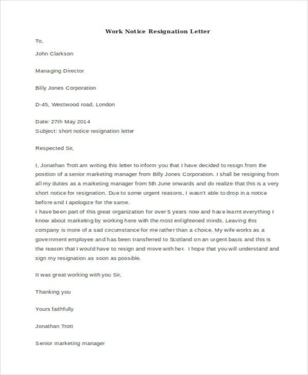 Resignation Letter Template Nsw Best Resumes Curiculum Vitae And - microsoft office resignation letter template