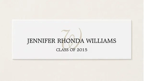 8+ Graduation Name Cards - PSD, Vector EPS, PNG Free  Premium