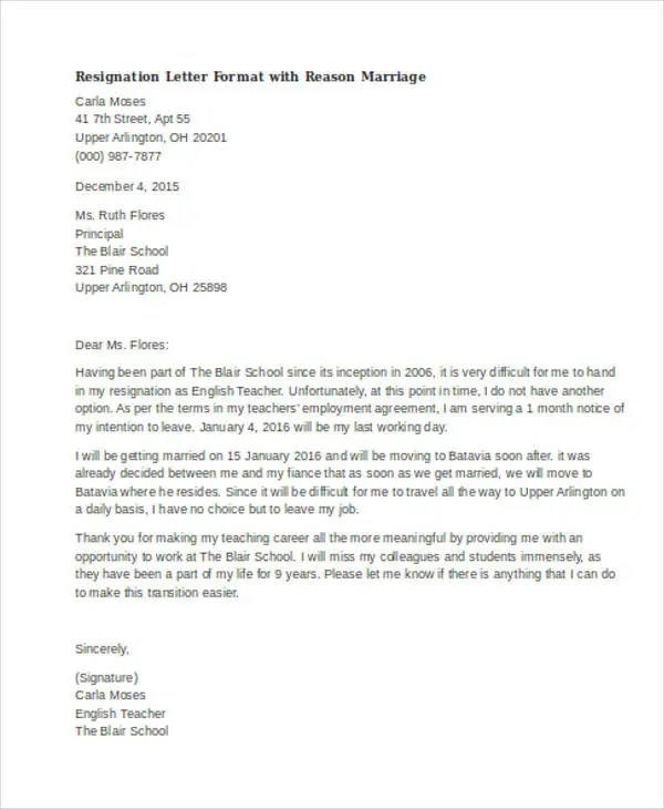 Resignation Letters Letter Of Resignation Templates 35 Resignation Letter Examples Free And Premium Templates