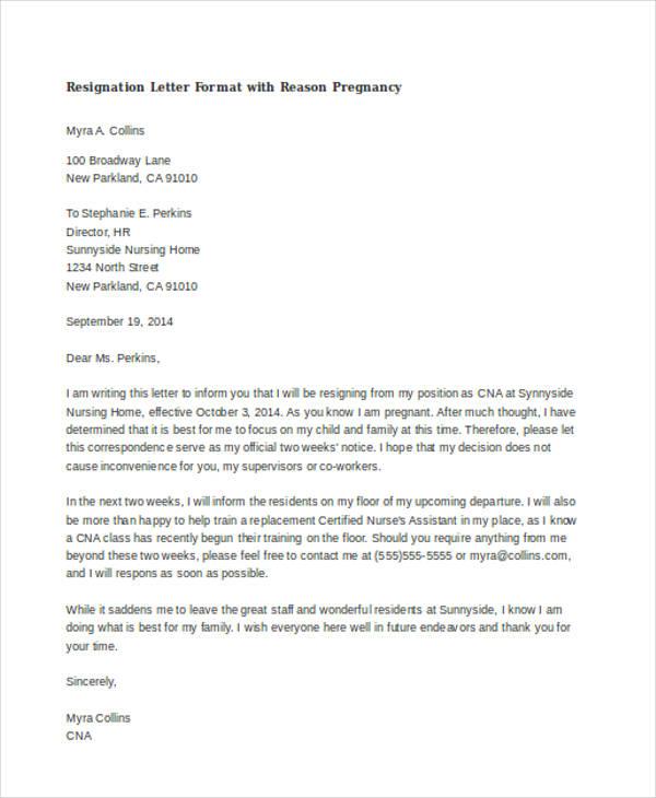 40+ Resignation Letter Example Free  Premium Templates
