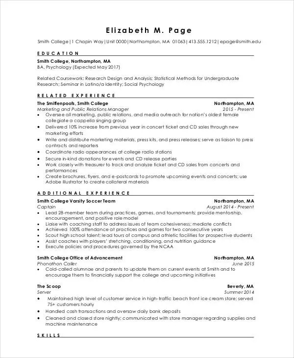 9+ Fresher Engineer Resume Templates - PDF, DOC Free  Premium