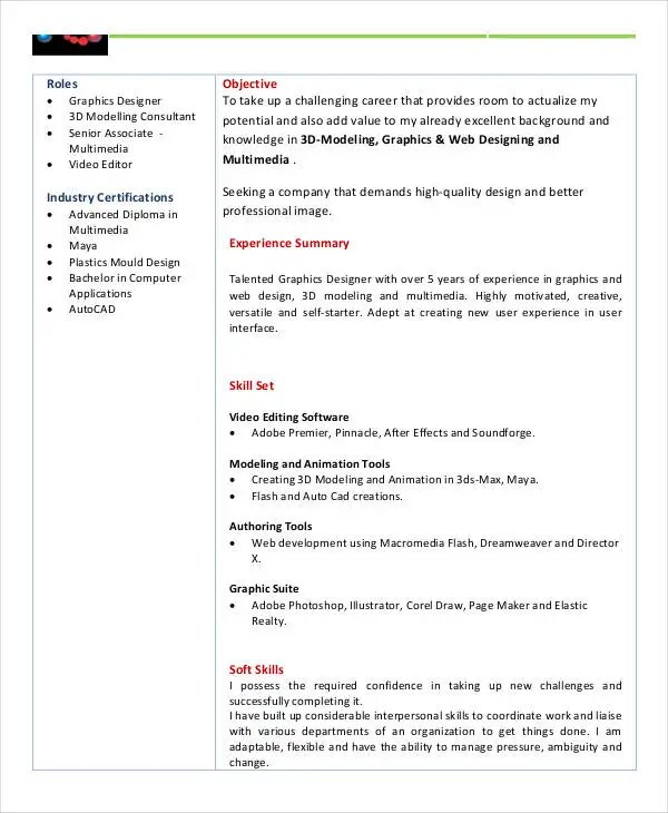 9+ Basic Fresher Resume Templates - PDF, DOC Free  Premium Templates - Modeling Career Resume