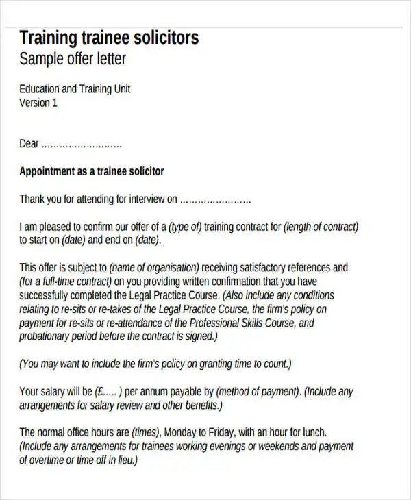 Training Contract Templates - dj contract template