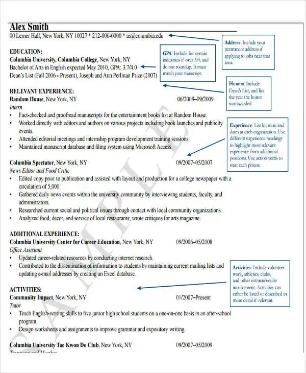 Fresher Lecturer Resume Templates - 5+ Free Word, PDF Format - Fresher Lecturer Resume