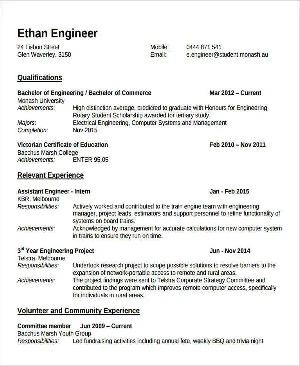 Fresher Lecturer Resume Templates - 5+ Free Word, PDF Format - group resume template