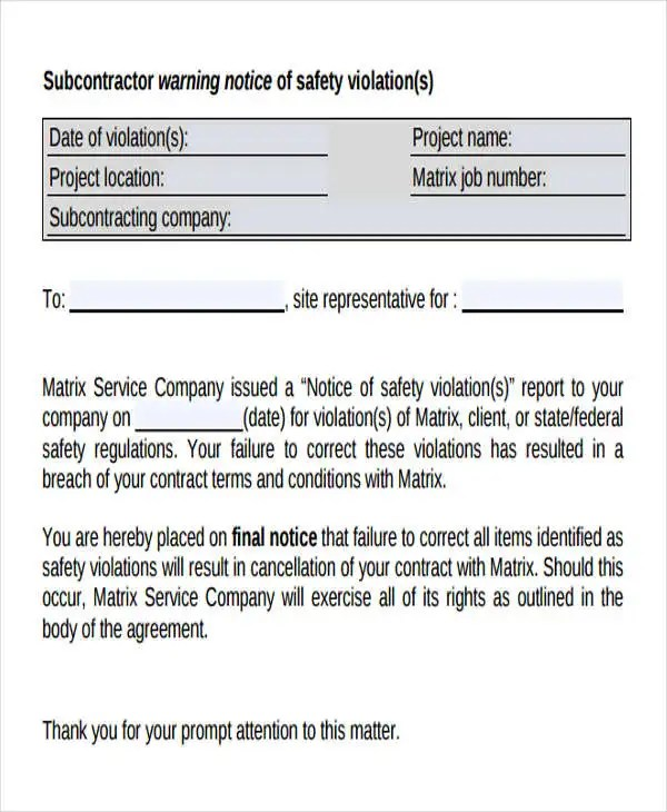 Nice Safety Contract Template Adornment  Resume Ideas  DospilasInfo