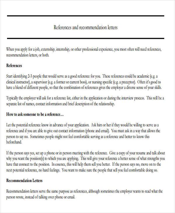 Nursing Reference Letter Templates - 12+ Free Word, PDF Format