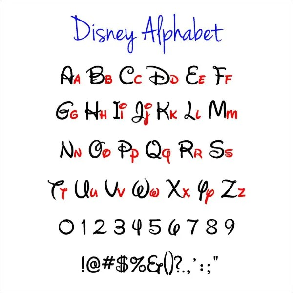 7+ Disney Alphabet Letters - Free PSD, EPS, Format Download Free